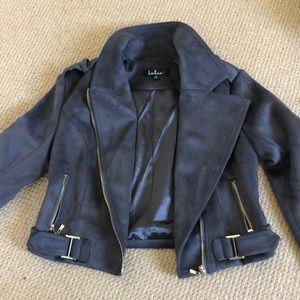 Suede grey blazer jacket